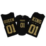 quuen king prince camisetas y body negro 500